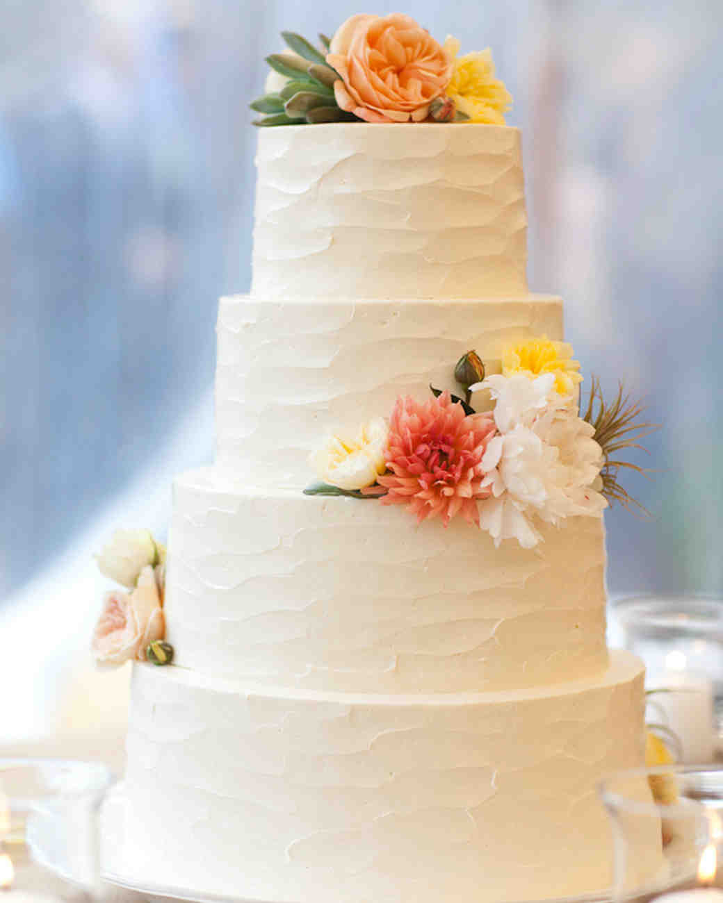 Wedding Cakes With Buttercream Frosting  104 White Wedding Cakes That Make the Case for Going