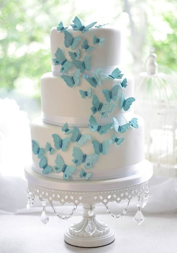 Wedding Cakes With Butterfly  Butterfly Wedding Ideas That Will Make Your Heart Skip a Beat