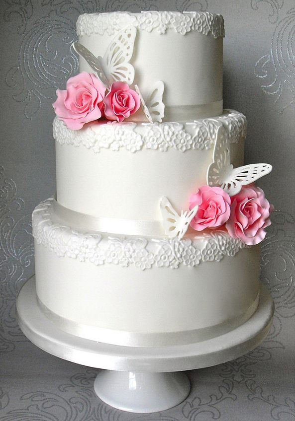 Wedding Cakes With Butterfly  Best 20 Butterfly wedding cake ideas on Pinterest