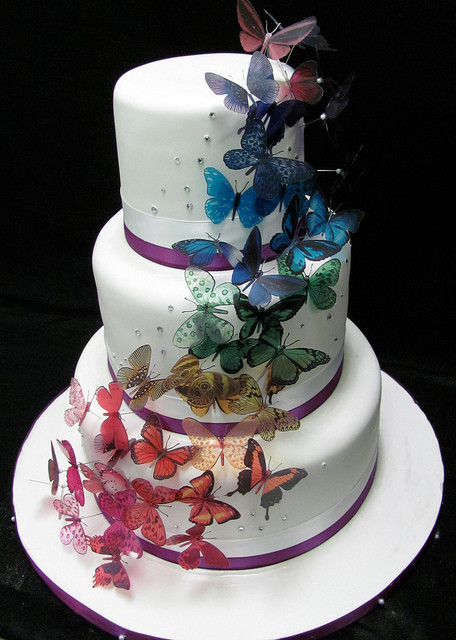 Wedding Cakes With Butterfly  Butterfly wedding cake