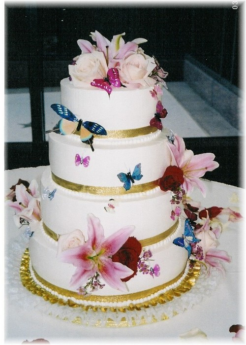 Wedding Cakes With Butterfly  Wedding Cakes Butterfly Wedding Cake Decorations