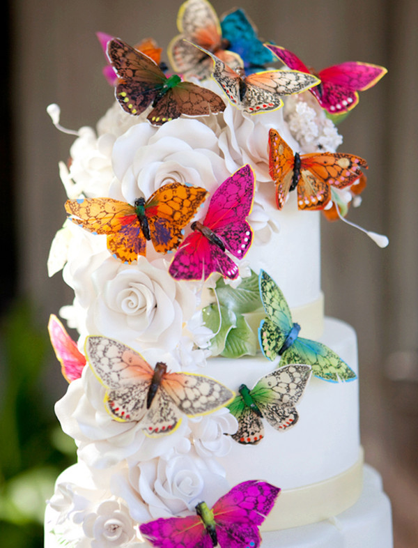 Wedding Cakes With Butterfly  Top 5 Butterfly Wedding Invitations And Wedding Cakes