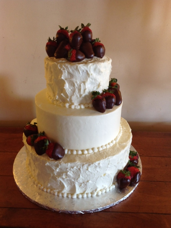 Wedding Cakes With Chocolate Covered Strawberries  Custom Wedding Cakes Bakery Red Velvet & Pink Champagne