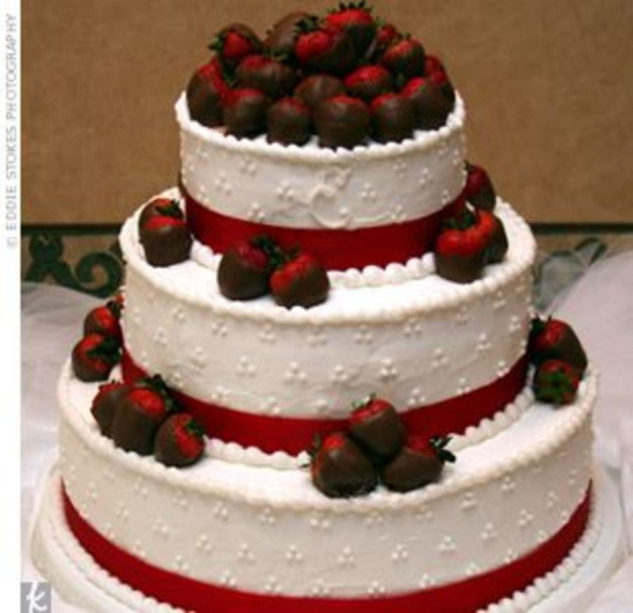 Wedding Cakes With Chocolate Covered Strawberries  Chocolate Covered Strawberry Wedding Cake CakeCentral