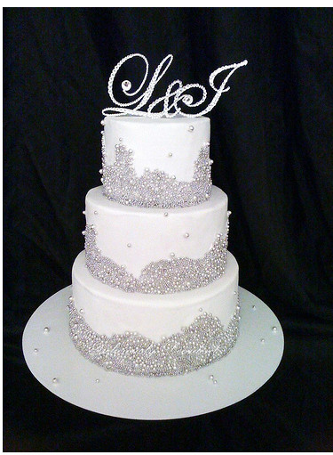 Wedding Cakes With Crystals  Crystal wedding cake with crystal toppers PNG