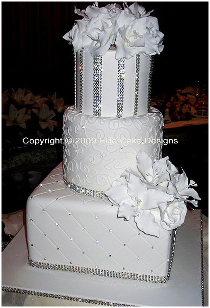 Wedding Cakes With Crystals  Wedding Cake with Swarovski crystals