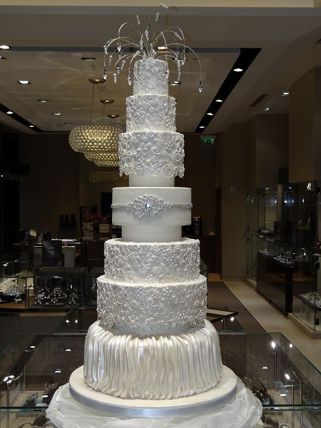 Wedding Cakes With Crystals  Wedding Cakes West Bromwich Top Nosh Cakes