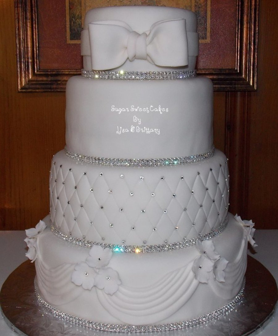 Wedding Cakes With Crystals  Crystal & White Wedding Cake CakeCentral