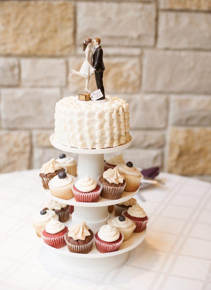 Wedding Cakes With Cupcakes  Wedding Cupcakes Perfect Vow Renewal Cake
