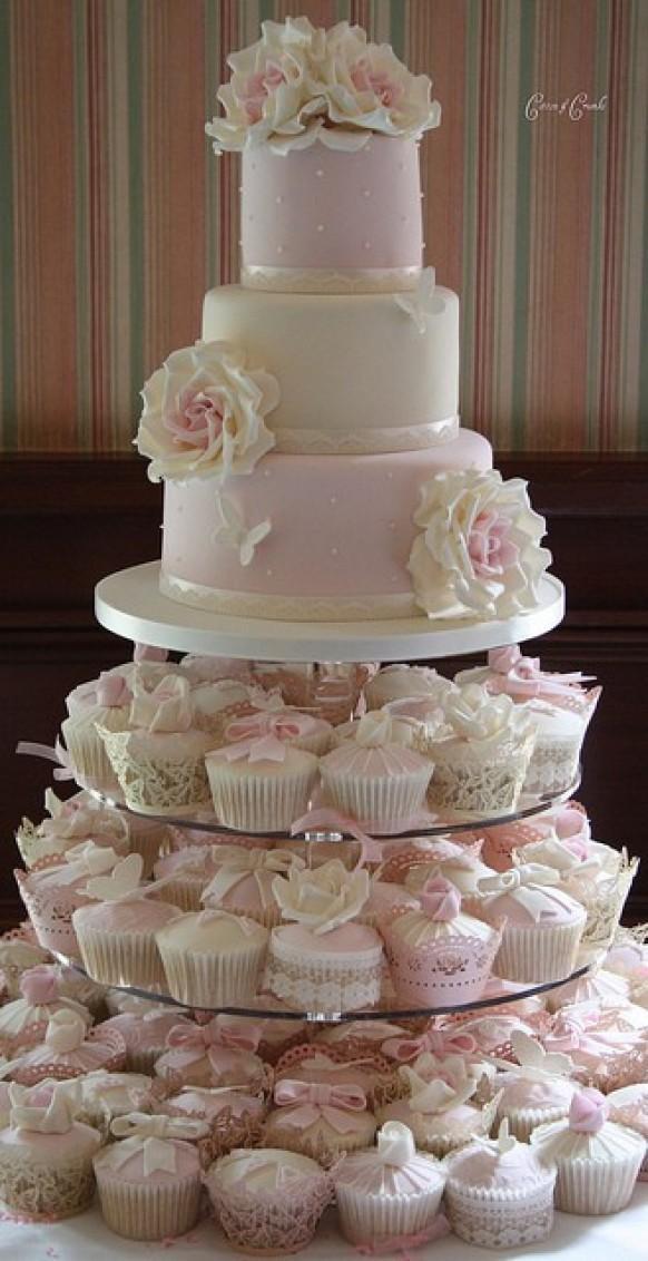 Wedding Cakes With Cupcakes  Fondant Wedding Cakes ♥ Wedding Cupcake Design