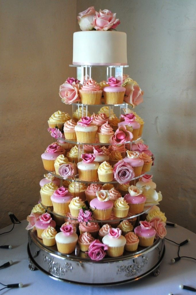 Wedding Cakes With Cupcakes On Tiers  814 best images about Cupcake Wedding Designs on Pinterest