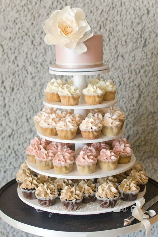 Wedding Cakes With Cupcakes On Tiers  25 Delicious Wedding Cupcakes Ideas We Love