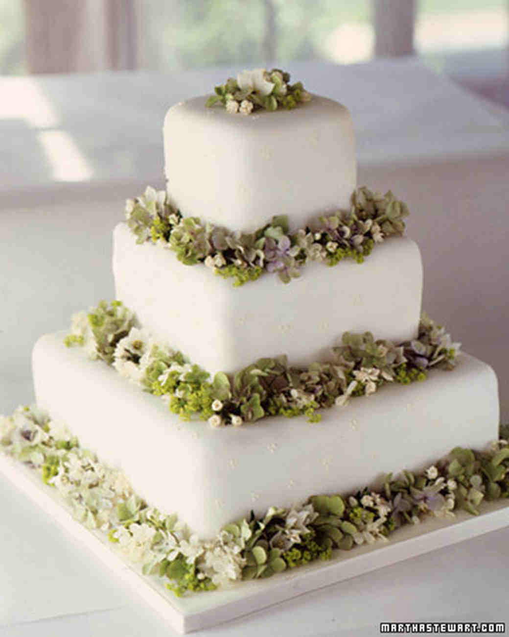 Wedding Cakes With Fondant  Modern Wedding Cakes