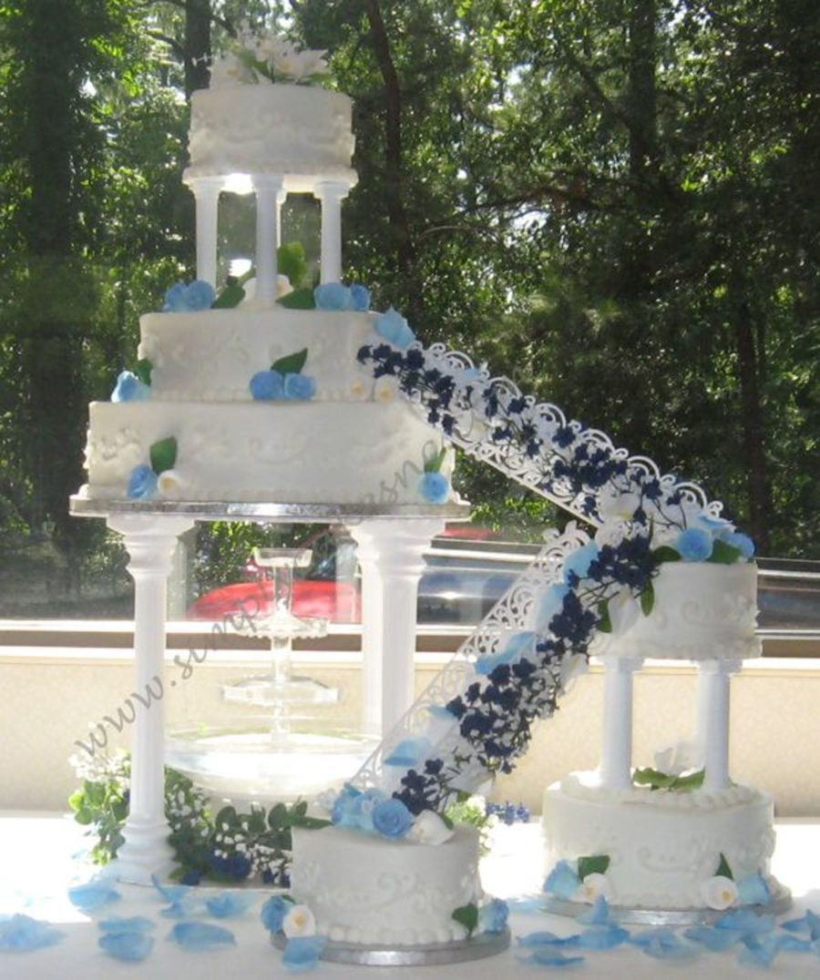 Wedding Cakes With Fountain  Wedding Cake With Fountain And Stairs CakeCentral