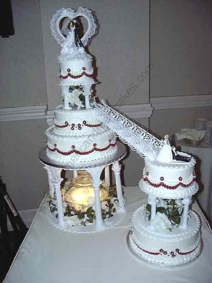 Wedding Cakes With Fountain And Stairs  31 best images about cakes with stairs on Pinterest