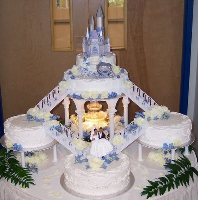 Wedding Cakes With Fountain And Stairs  191 best images about Wedding Day on Pinterest