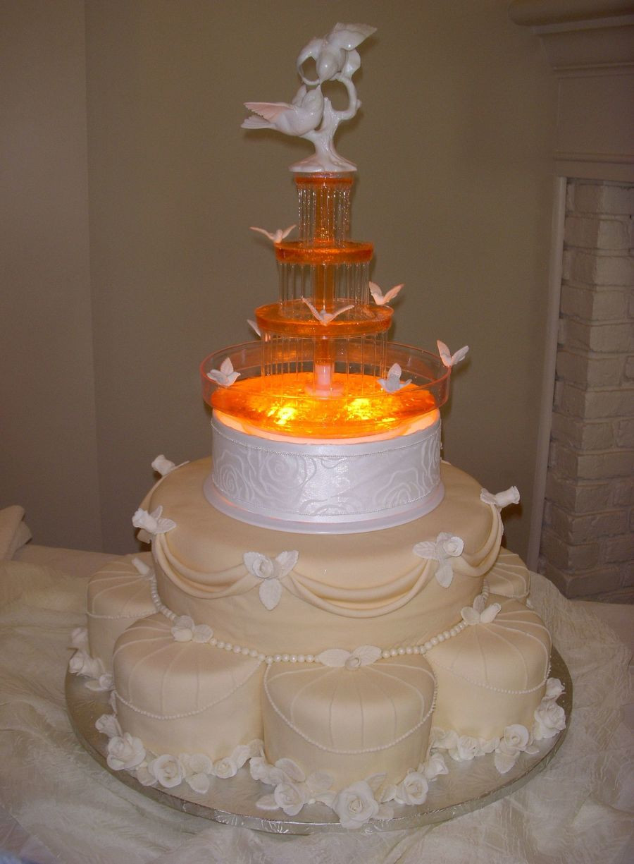 Wedding Cakes With Fountain  Fountain Wedding Cake CakeCentral