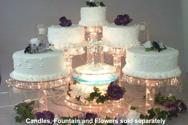 Wedding Cakes With Fountains And Lights  Lighted Cake Stand Set Nothing pares to going over the