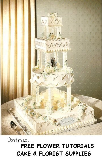 Wedding Cakes With Fountains And Lights  Fountain Wedding Cakes