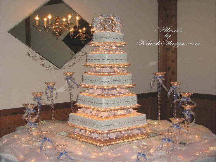Wedding Cakes With Fountains And Lights  Tier Wedding Cakes With Fountains And Lights