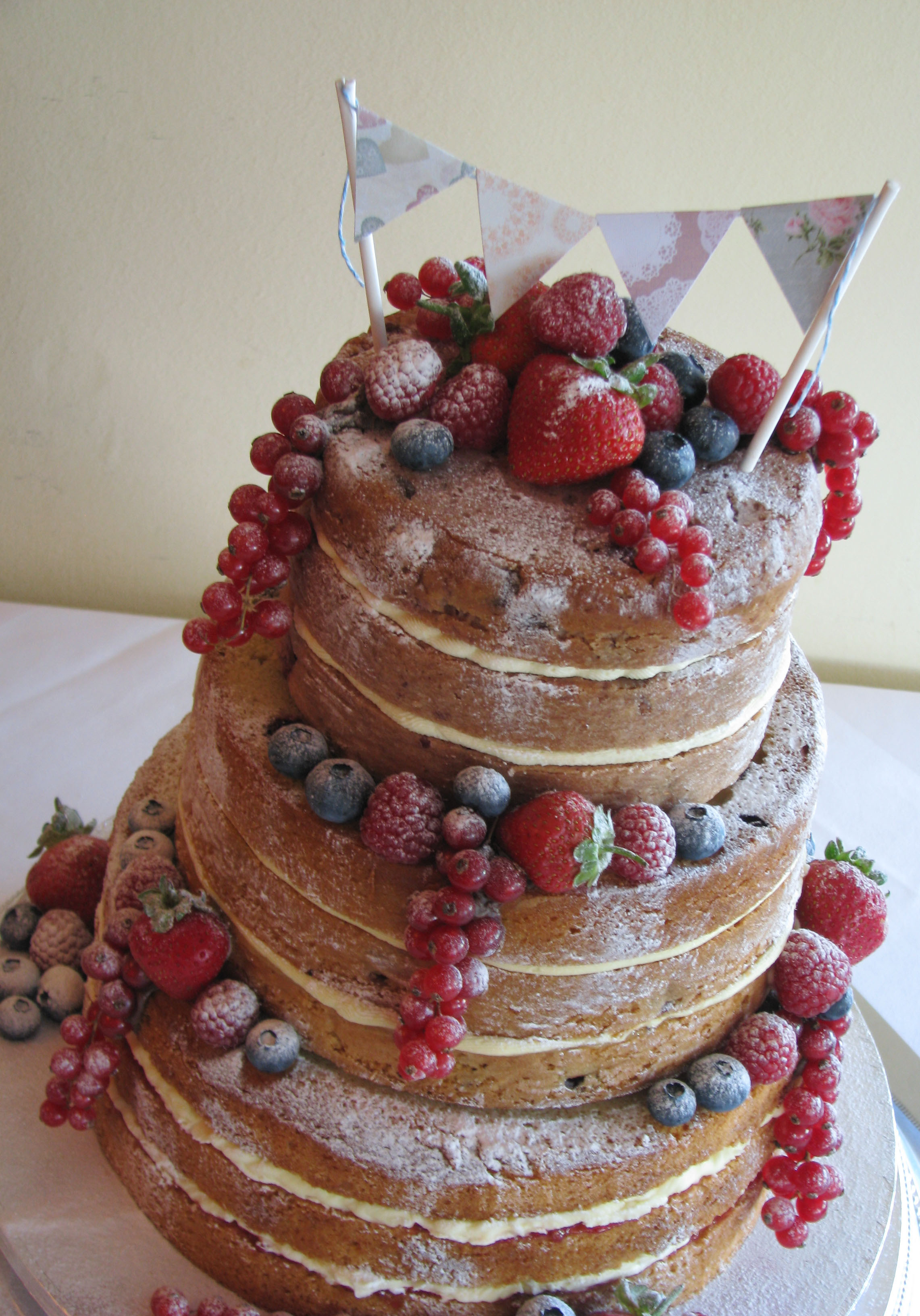 Wedding Cakes With Fruit  Natural Weddings Natural Cakes