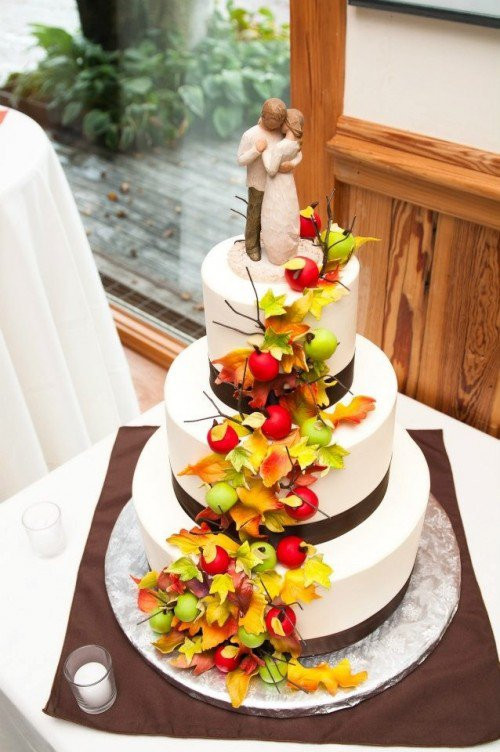 Wedding Cakes With Fruit  15 Fall Wedding Cake Ideas You May Love Pretty Designs