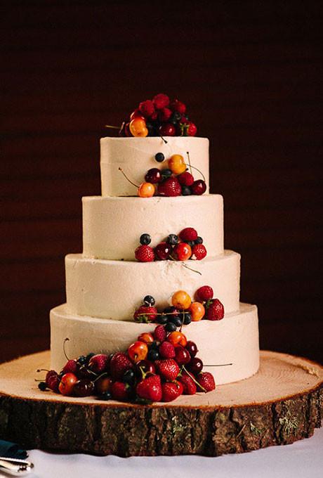 Wedding Cakes With Fruit  Simple Wedding Cakes