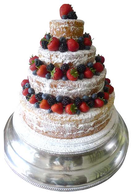 Wedding Cakes With Fruit  an appreciation post for icing less wedding cakes