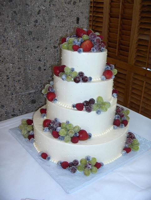 Wedding Cakes With Fruit  Frosted Fruit Wedding Cake