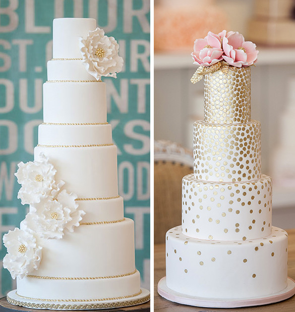 Wedding Cakes With Gold Accents  wedding cake Linzi Events