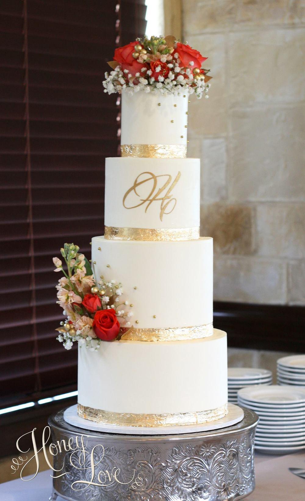 Wedding Cakes With Gold Accents  Wedding Cakes — HoneyLove Cakery