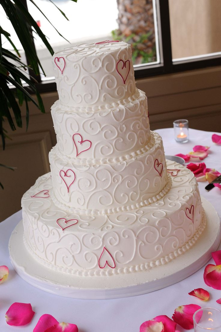 Wedding Cakes With Hearts  9 Hot Pink Heart Cakes Pink Heart Shaped Wedding