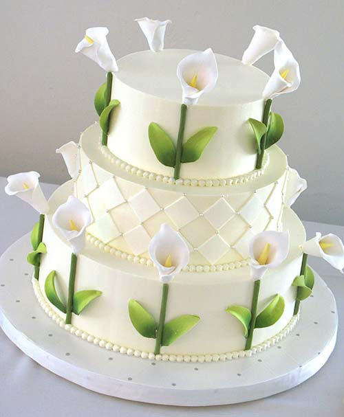 Wedding Cakes With Lilies  Lovely Calla Lilly Wedding Cakes