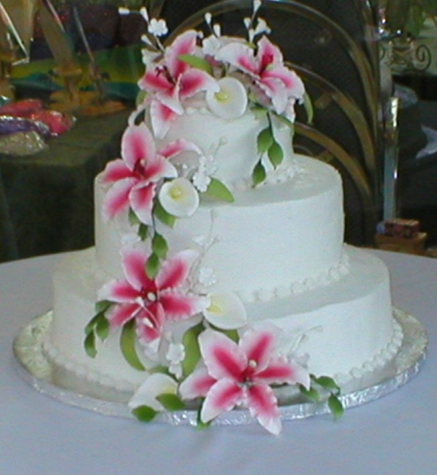 Wedding Cakes with Lilies 20 Of the Best Ideas for Tiger Lily Cala Lily Wedding Cake Cakecentral