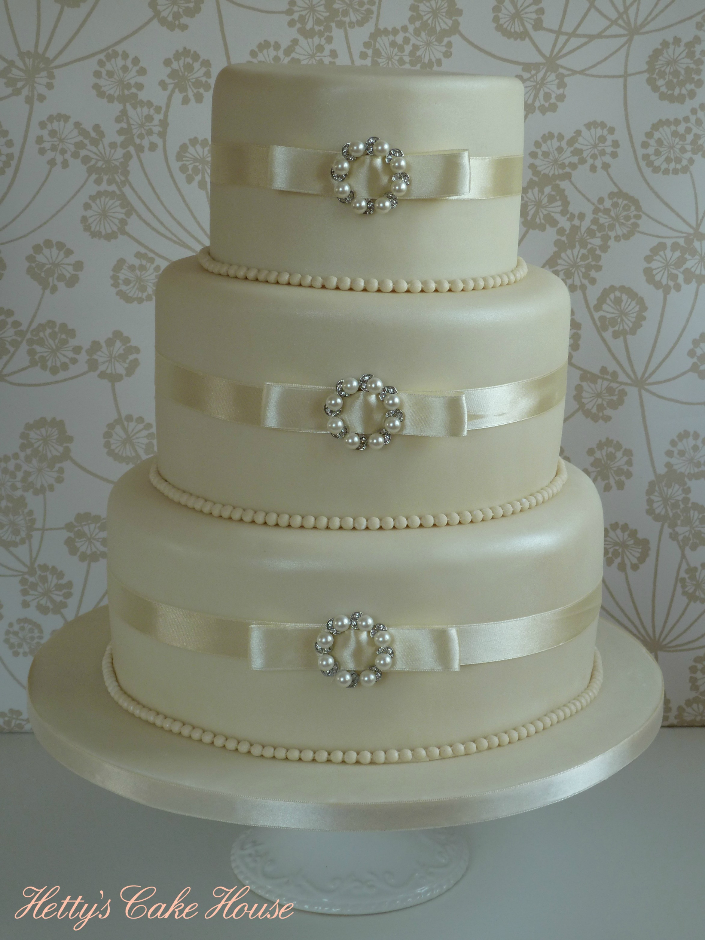 Wedding Cakes With Pearls  Wedding cakes Hettys Cake House