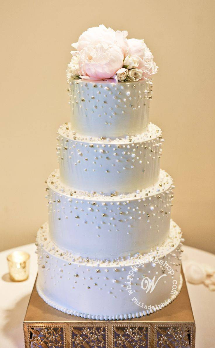 Wedding Cakes With Pearls  A Pearl Inspired Wedding Wedding Fanatic