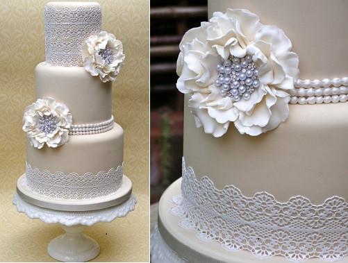 Wedding Cakes With Pearls  Vintage Pearl Wedding Cakes – Cake Geek Magazine