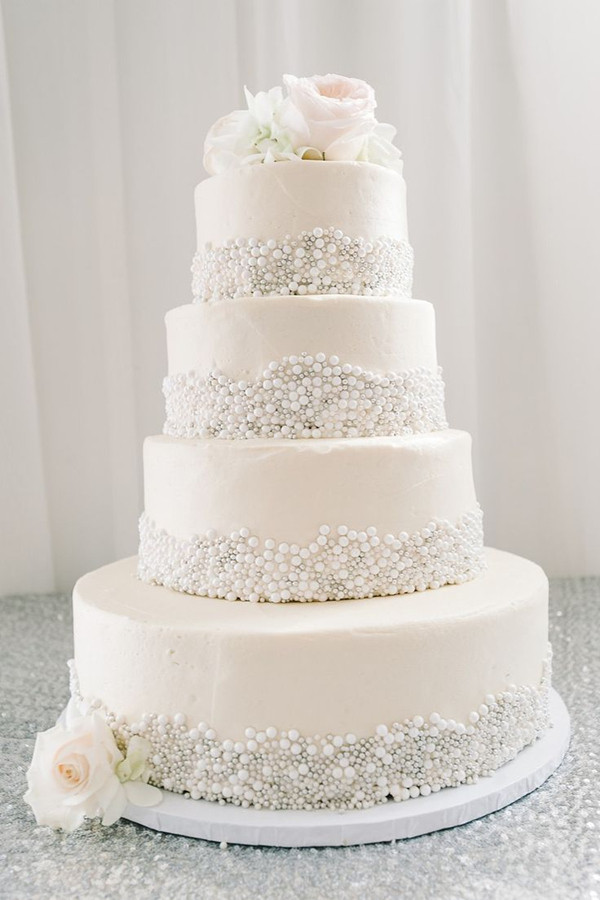 Wedding Cakes With Pearls  25 Fabulous Wedding Cake Ideas With Pearls