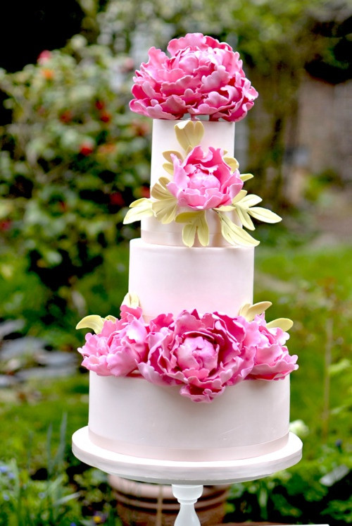 Wedding Cakes with Peonies 20 Of the Best Ideas for 12 Pretty Wedding Cakes with Peony & Floral Decorations