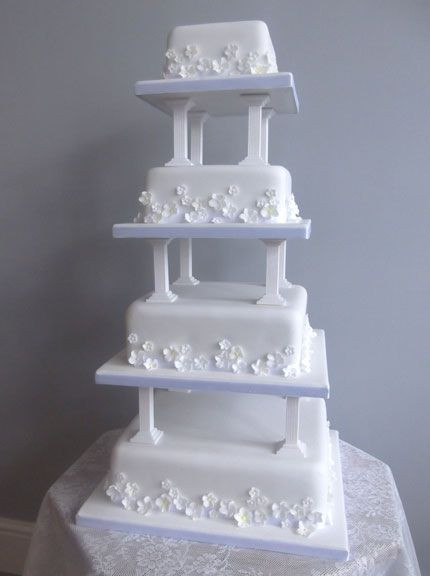Wedding Cakes With Pillars  1000 images about Burgundy wedding cakes ideas on