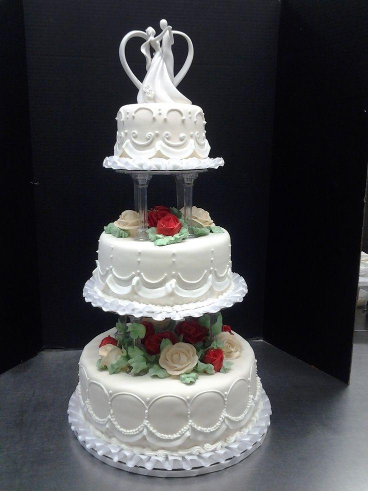 Wedding Cakes With Pillars  3 tier wedding cakes with pillars
