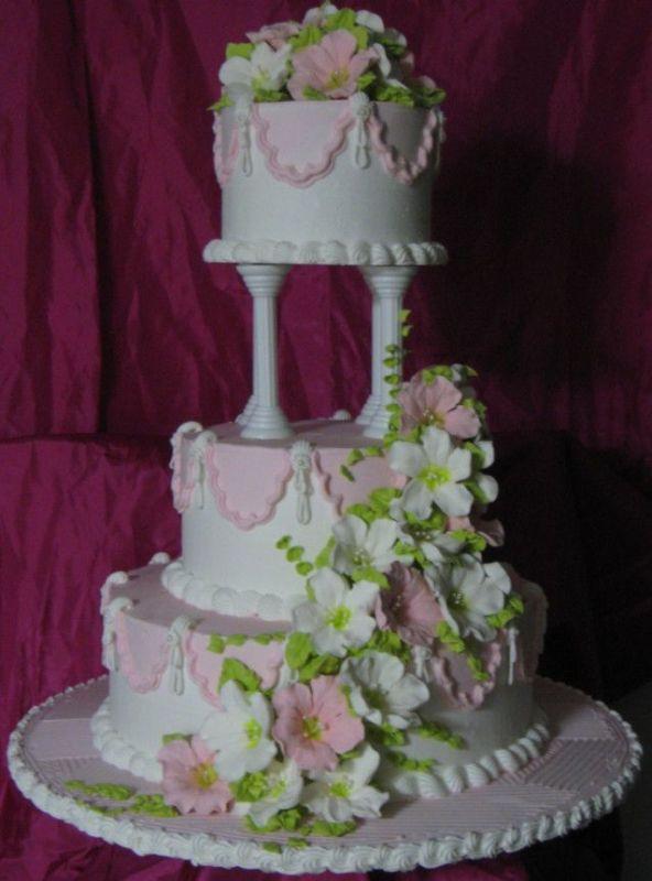 Wedding Cakes With Pillars  Wedding cake pillars and plates idea in 2017