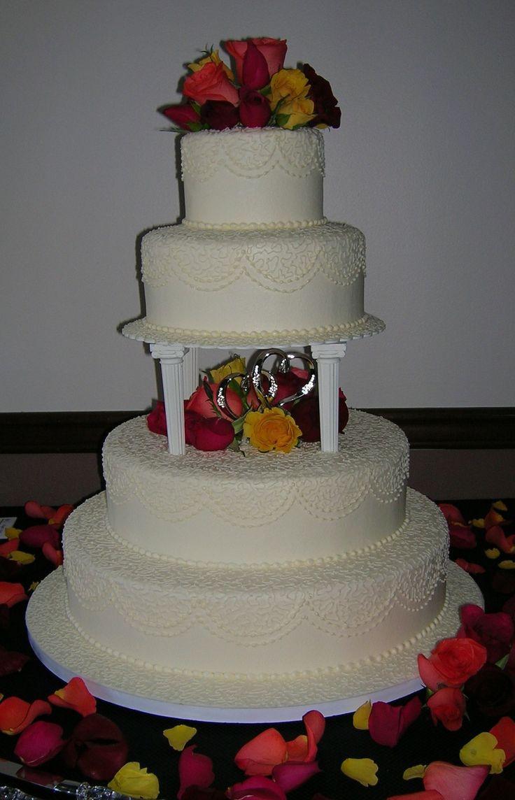 Wedding Cakes With Pillars  87 best Pillar Wedding Cakes images on Pinterest
