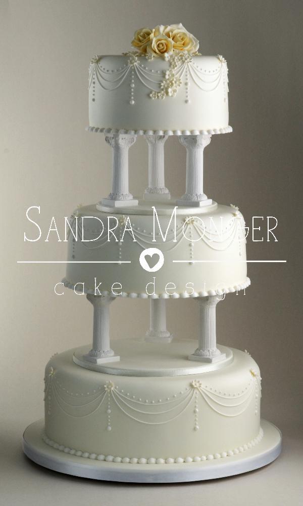 Wedding Cakes With Pillars  Wedding Cake Gallery