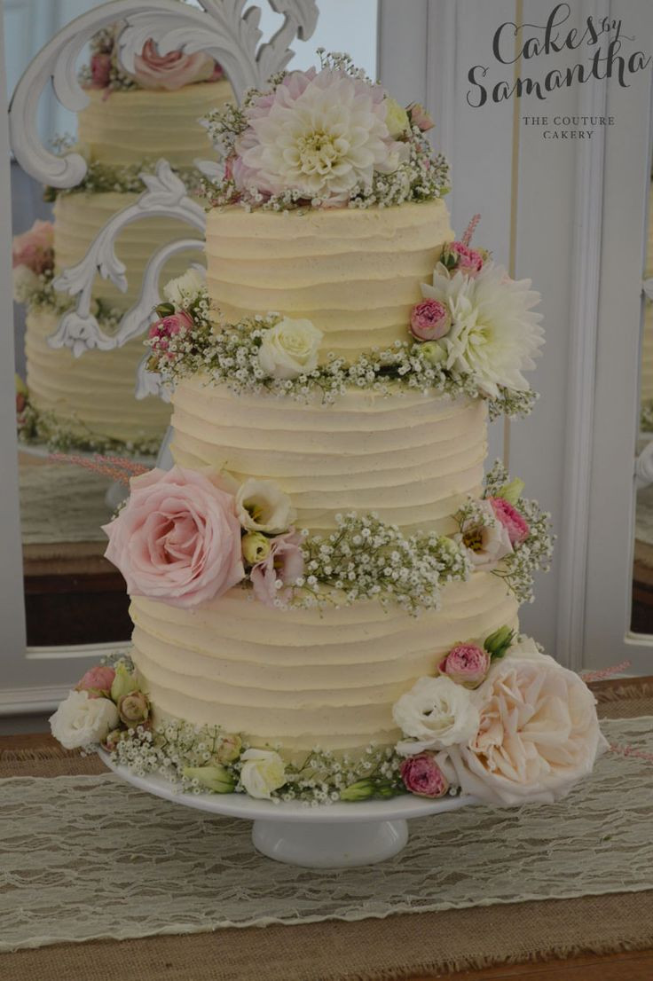 Wedding Cakes With Real Flowers  25 best ideas about Wedding Cake Fresh Flowers on