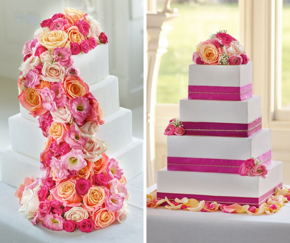 Wedding Cakes With Real Flowers  Wedding Cake Ideas with Real Flowers Interflora