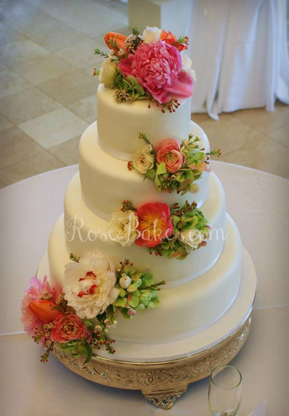 Wedding Cakes With Real Flowers  Golf Bag Groom s Cake or for Father s Day Rose Bakes