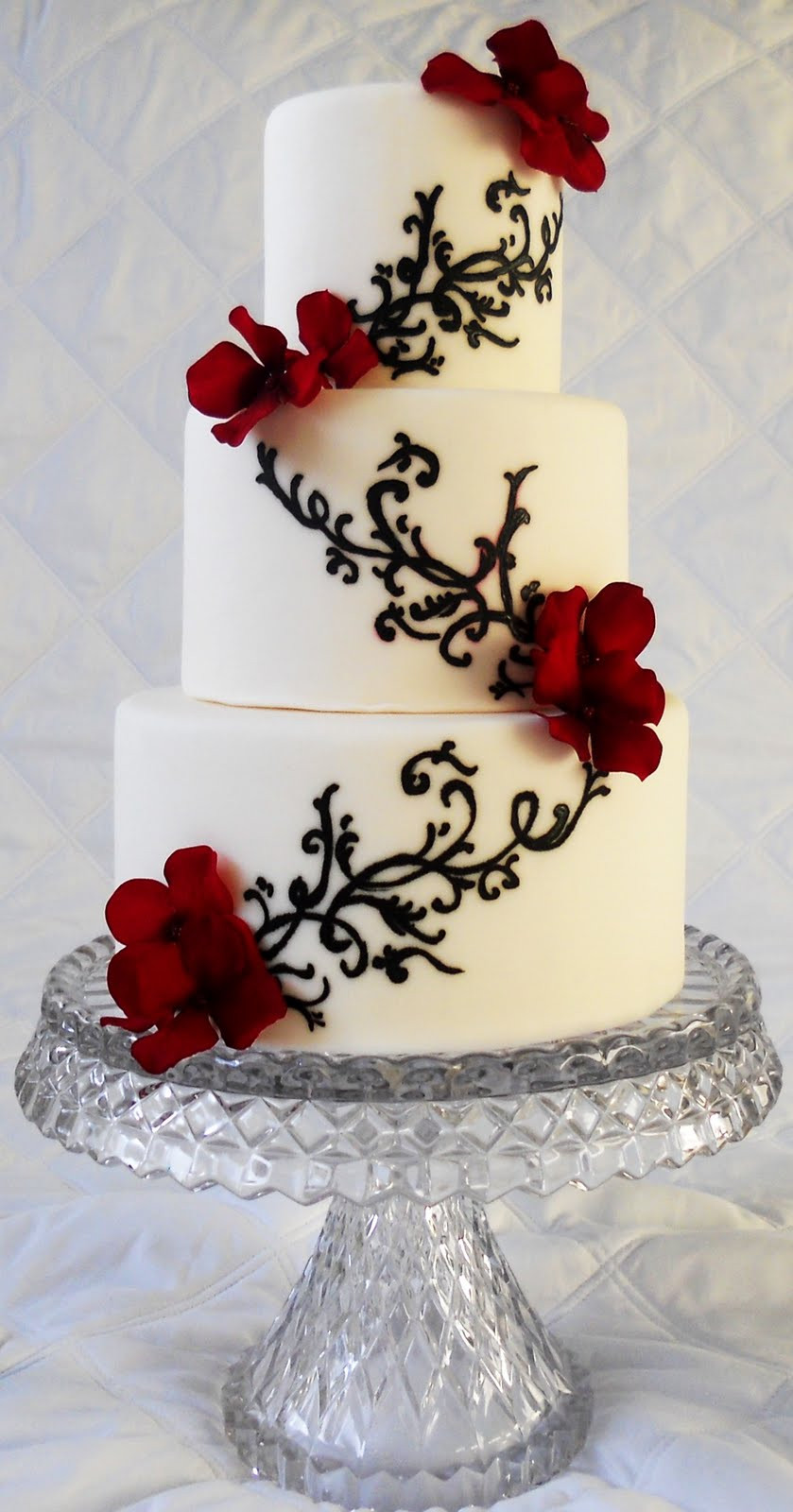 Wedding Cakes With Red  Memorable Wedding Find the Best Red Black and White