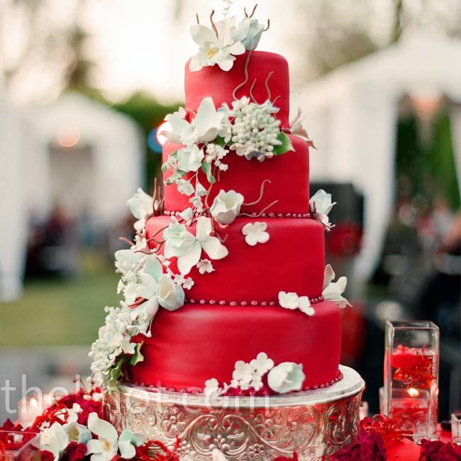 Wedding Cakes With Red  Red Wedding Cake