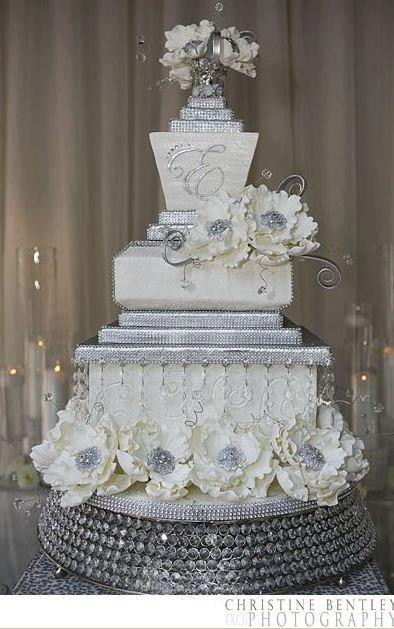 Wedding Cakes With Rhinestones  Remarkable Rhinestone BLING for Weddings and Events